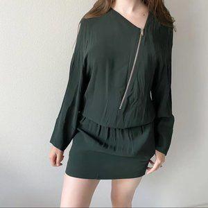 Stella McCartney Oversized Green Zip Tunic Dress